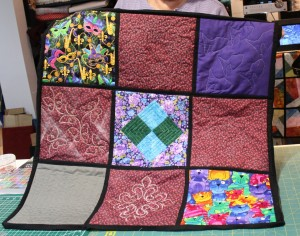So many ways to finish a quilt!